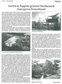 Supergarten Deutschland Hochlandkurier 11.2004