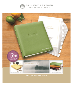 Our data analytics and marketing strategy client: Gallery Leather