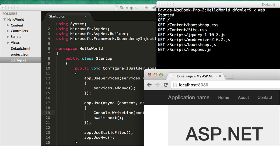 ASP.NET on a Mac