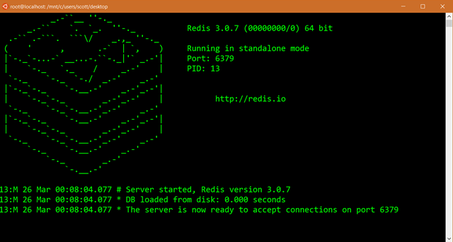 Running Redis Standalone on Windows