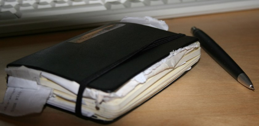 Messy Moleskine photo by Alexandre Dulaunoy and used under Creative Commons