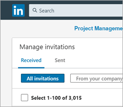Too many LinkedIn invitations