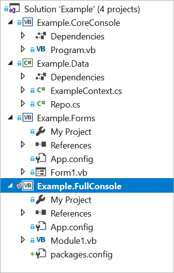 Lots of .NET Projects sharing a .NET Standard Library