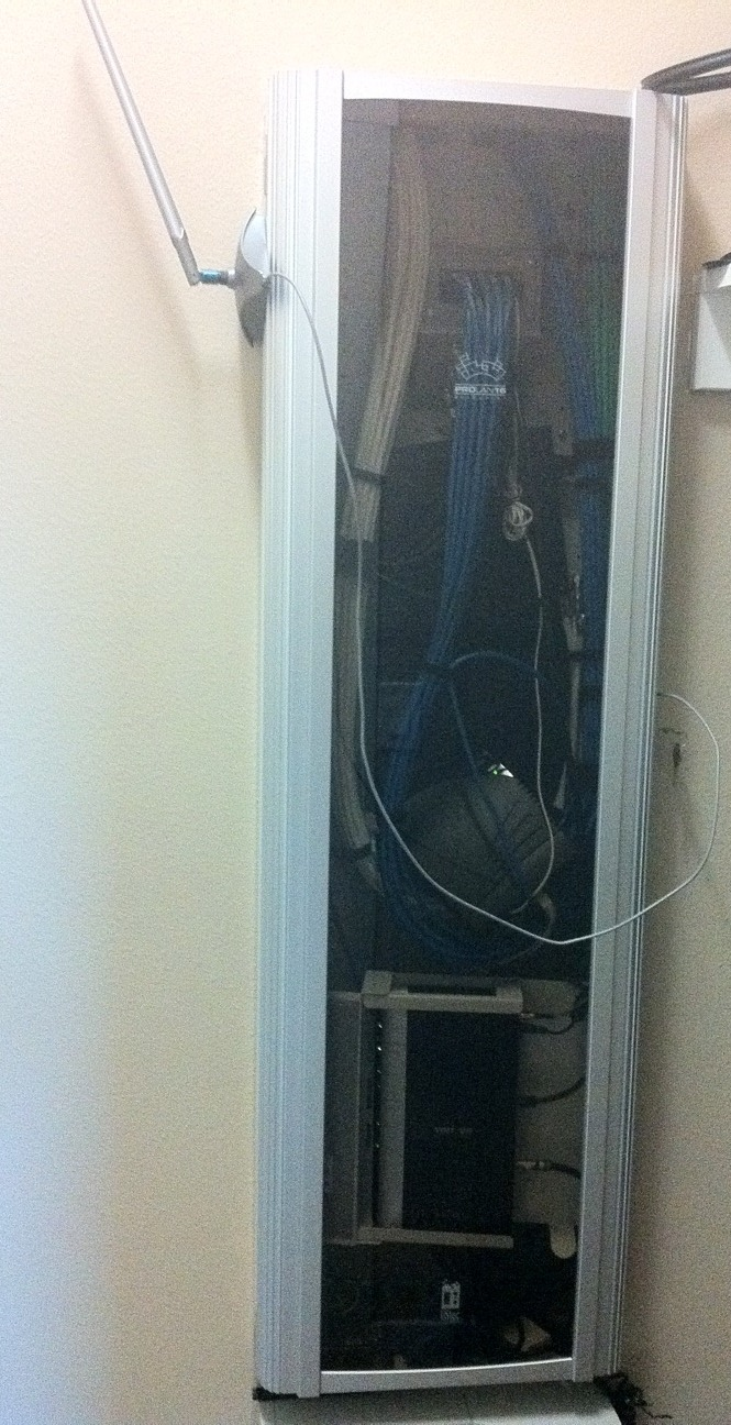 medium resolution of my downstairs wiring closet