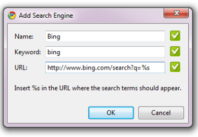 Make Google Chrome Use Microsoft Bing For Search