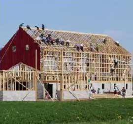 amish speed barn raising