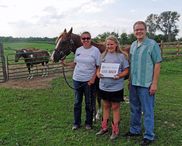 QUEST Stables GIVE BACK Donation   Hansen-Spear Funeral Home - Quincy, Illinois