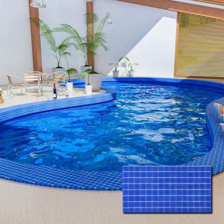 cheap pool glass mosaic tile
