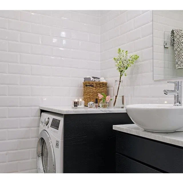 cheap white subway tile bathroom shower