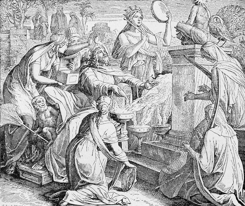 Bilder der Bibel - Salomo und die Königin aus Arabien