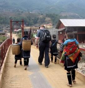 Bill Hanson trekking Vietnam