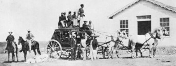 Typical overland stagecoach-1869