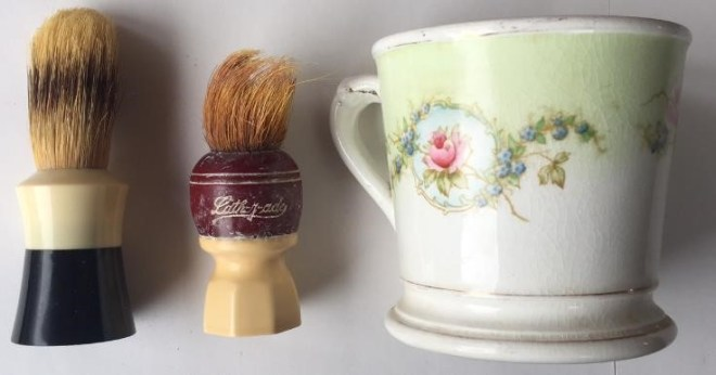 Billy Hanson's Shaving Mug & Brushes