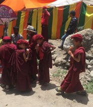Apprentice Monks eat ice cream cones-Hemis Gompa-Shimla-India
