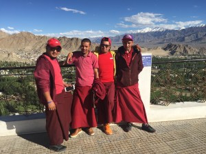 Buddhist Monks at Ladakh Shanti Stupa