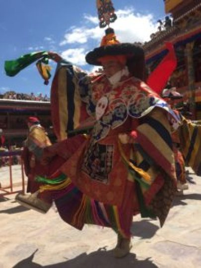 CLICK PHOTO to see video of Buddhist Monks Dancing at Hemis Festival, Ladakh, India
