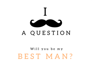 Be My Best Man Wedding Ideas
