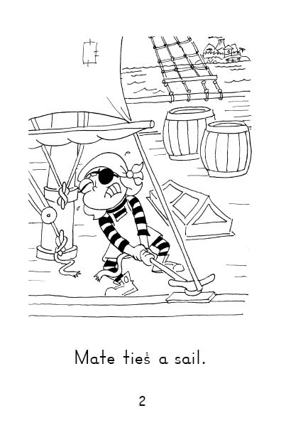 Chart 3 Set A Book 13 MATE SAILS Read & See ( Long Vowels