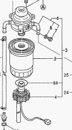 Yanmar brændstoffilter komplet 129574-55800