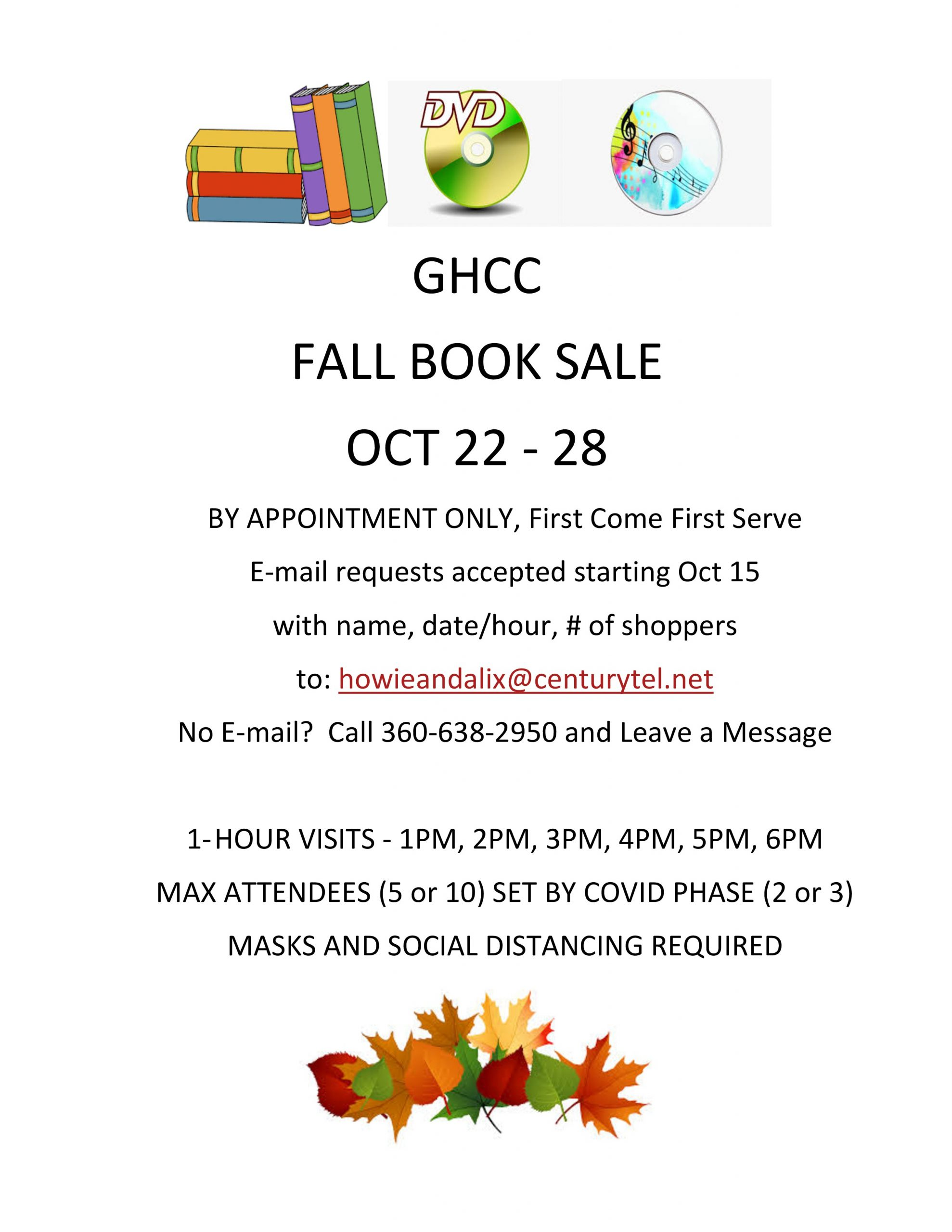 2020 Fall Book Sale Color