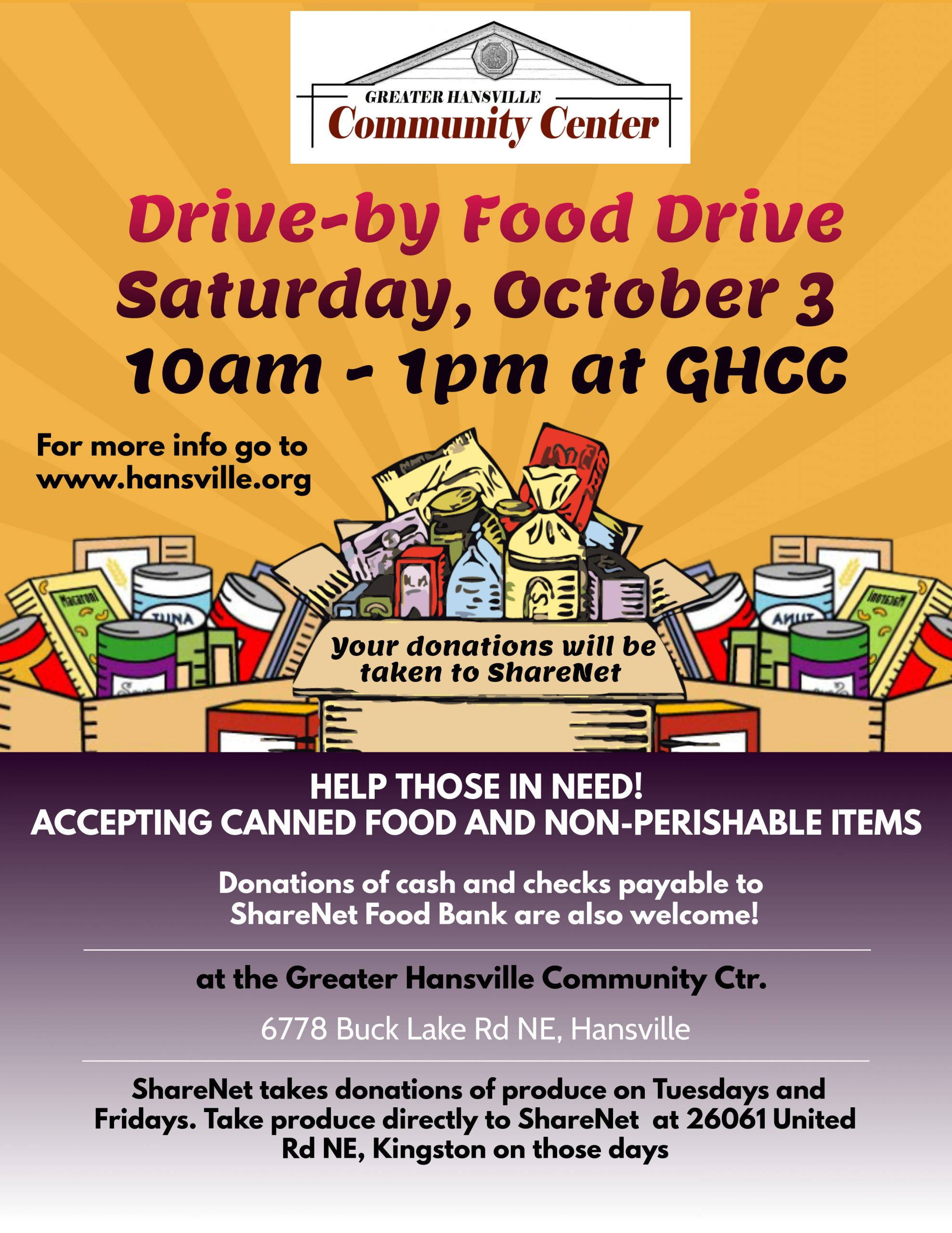 Food Drive 2020 poster