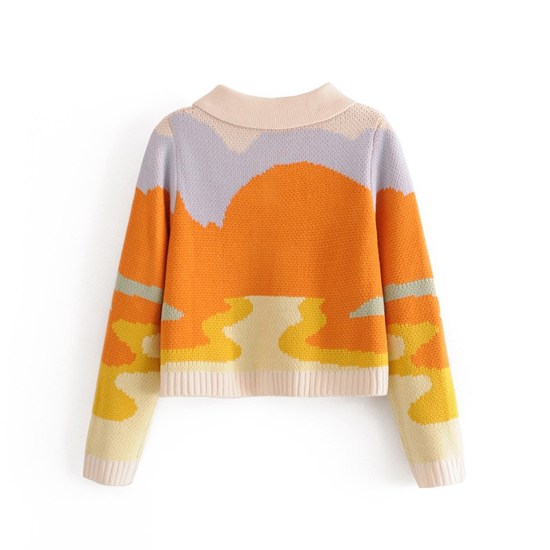 Women's Colorful Sunset Sweater