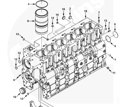 4BTA3.9| 6BTA5.9| 6CTA8.3| 6LTA8.9| Piezas del motor Cummins