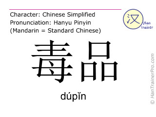 毒品 ( dupin / dúpĭn ) - drugs 的英文翻譯