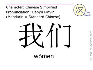 English translation of 我們 ( women / wŏmen ) - we in Chinese
