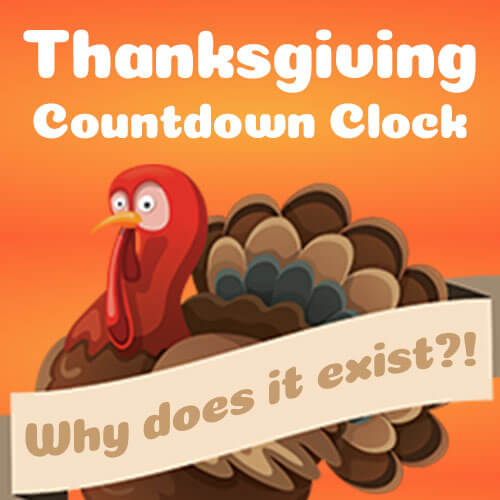 Thanksgiving Countdown Clock