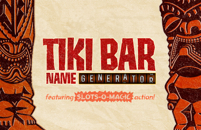 Tiki Bar Name Generator Banner Graphic