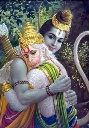 Shri Ram and Shri Hanuman