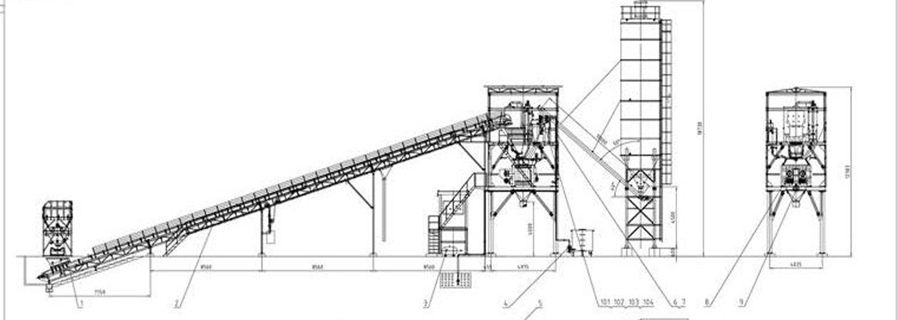 batching plant for sale, HZS90 batching plant, Indonesia
