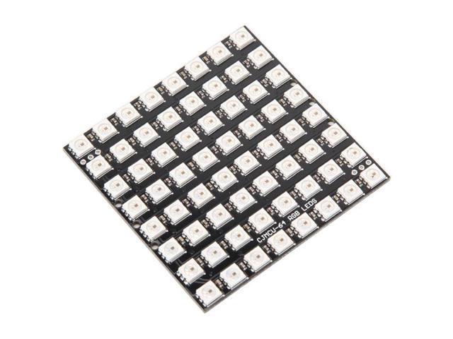 64 Bit WS2812 5050 RGB LED Driver Development Board [64bit