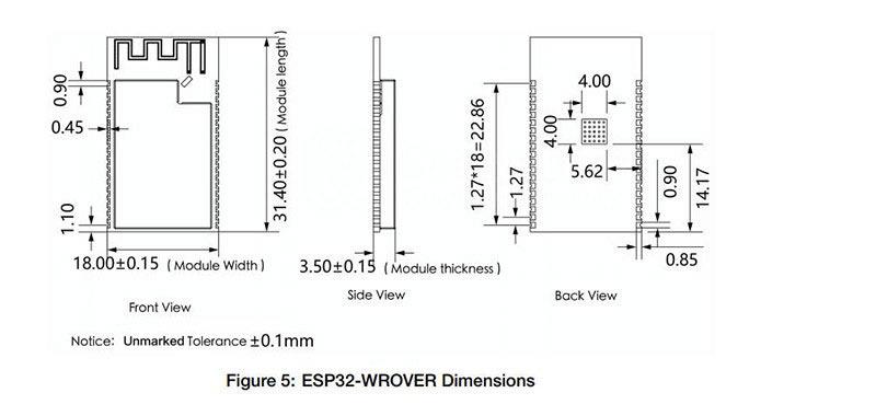 ESP32-WROVER IPEX antenna WiFi-BT-BLE MCU Module [ESP32