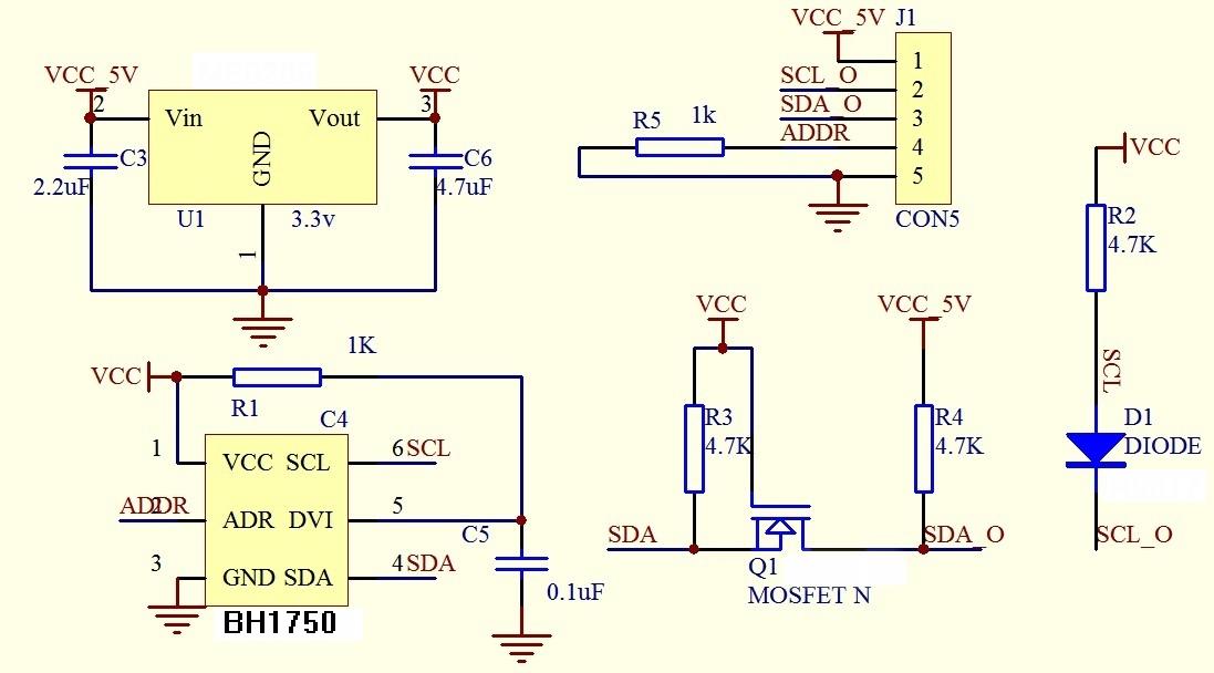2 Fluorescent Light Wiring Diagram Digital Light Sensor Bh1750fvi Gy 30 Us 2 00