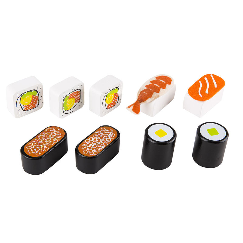 hape kitchen mdf cabinets sushi selection | e3130 toys