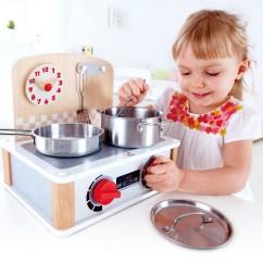 Hape Kitchen Luxury Faucets 北欧风双面迷你厨房 E3151 Toys