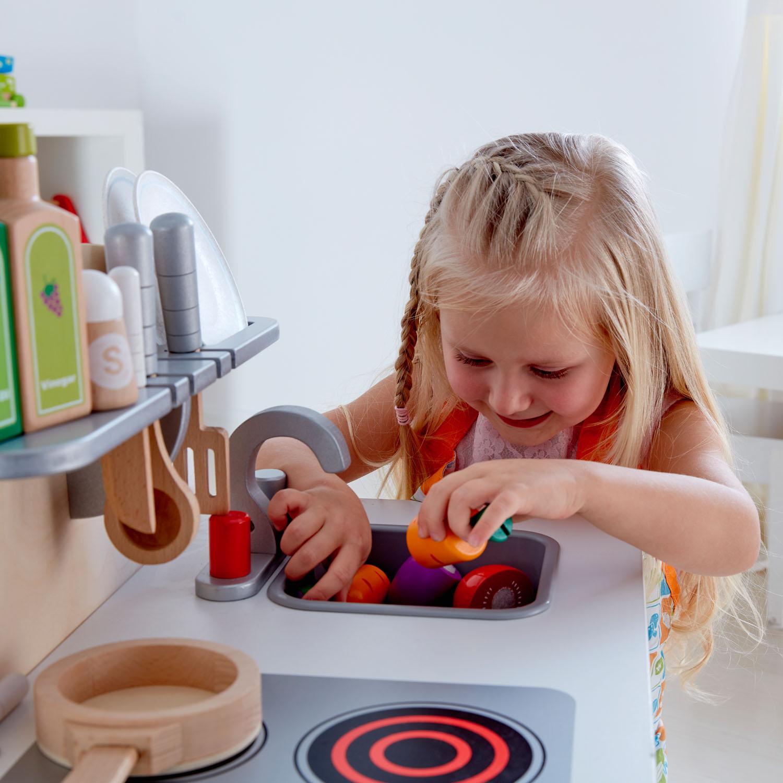 hape kitchen green cabinets 北欧风美食家厨房 e3152 toys