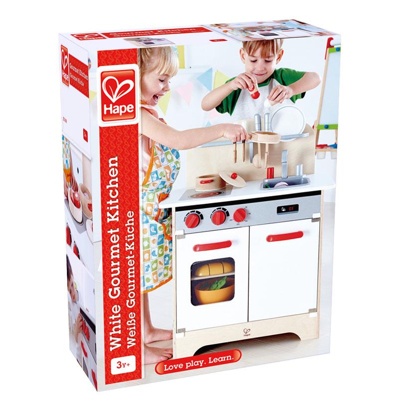 hape kitchen island table 北欧风美食家厨房 e3152 toys