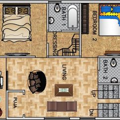 Water Resistant Laminate Flooring Kitchen Organizing 1-bhk Floor Plan For 30 X 40 Feet Plot (1200 Square Feet) - 2