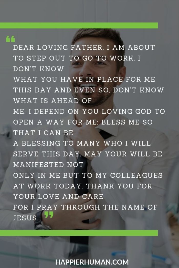 photo Prayer For A Great Day At Work happier human