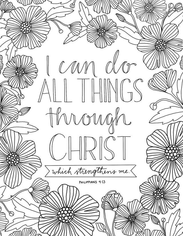 28 Faith Coloring Pages for Adults - Happier Human