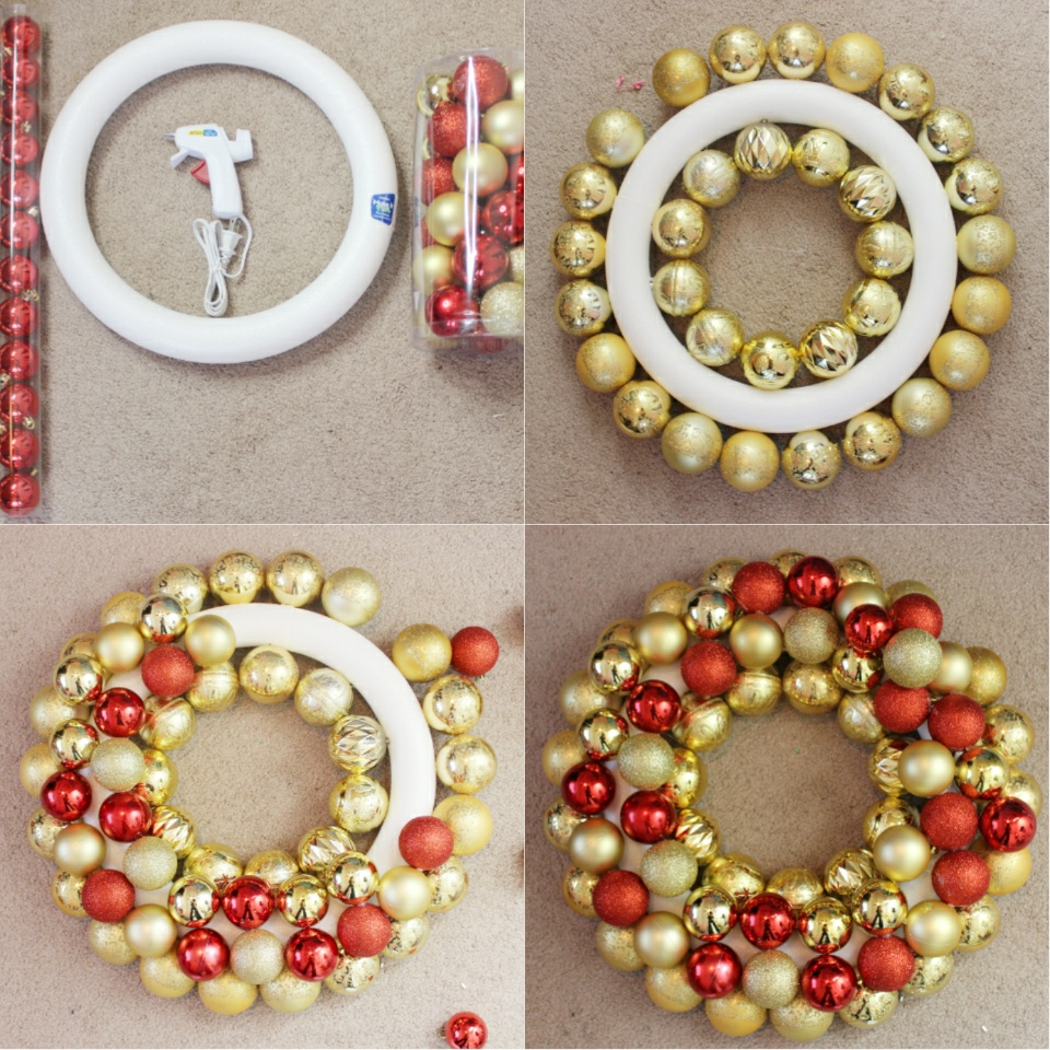 Diy Ornament Wreath Happily Ever Natural