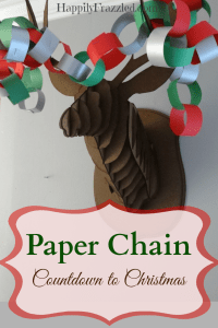 Paper Chain Countdown to Christmas | HappilyFrazzled.com