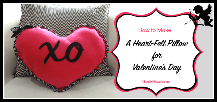 How To Make A Heart Felt Pillow For Valentine S Day