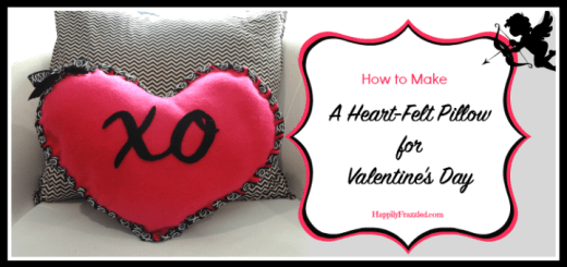 How to Make a Heart-Felt Valentine's Pillow | HappilyFrazzled.com