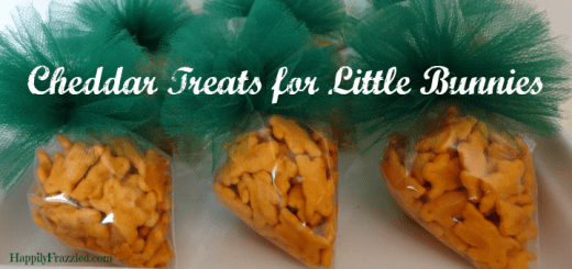 Perfectly portioned cheddar treats for your little bunnies on Easter | HappilyFrazzled.com