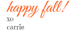 Happy Fall Signature | HappilyFrazzled.com