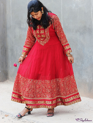 Anarkali for Sangeet